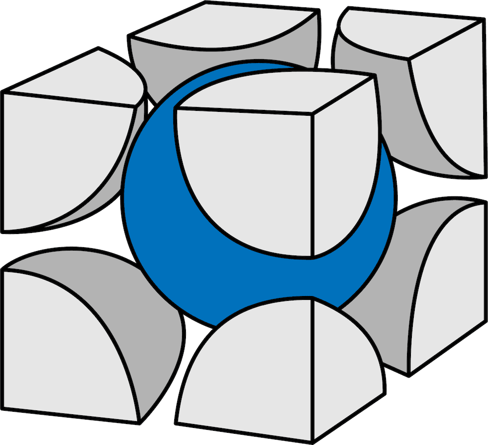 体心立方格子とは?配位数や充填率、密度、格子定数、半径などを解説!